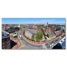 Αφίσα (Harvard, τετράγωνο, αυλή, δρόμος, αρχιτεκτονική, college)
